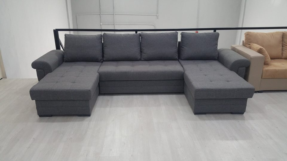 Latte Ushape Sofa Bed Home Sofa